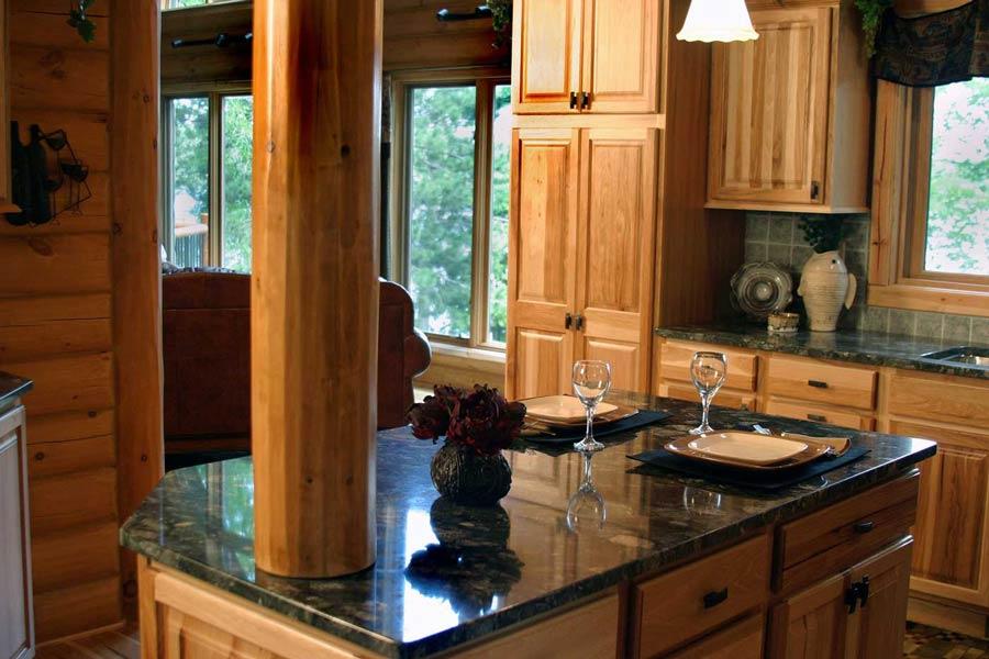 cucina in muratura legno