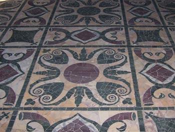 pavimento in resina mosaico