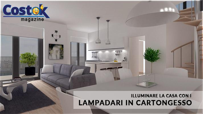 Illuminazione in casa con i lampadari in cartongesso costok