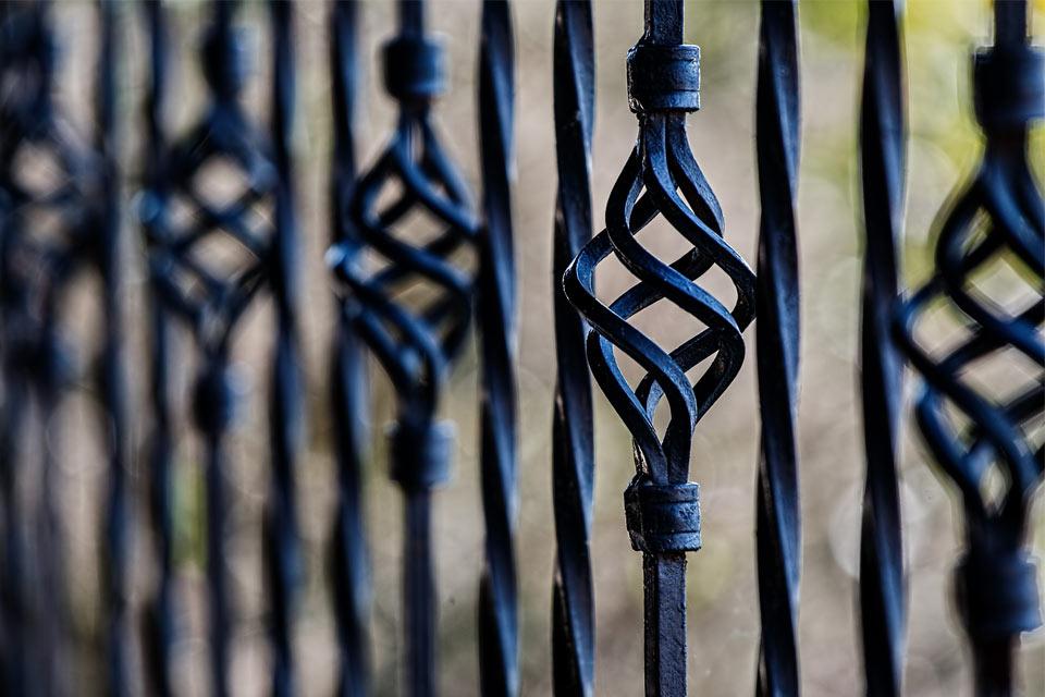 ringhiera in ferro nera